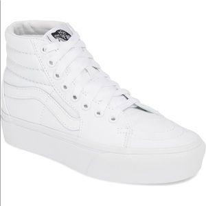 Vans Sk8-Hi Platform Sneaker True White 6.5